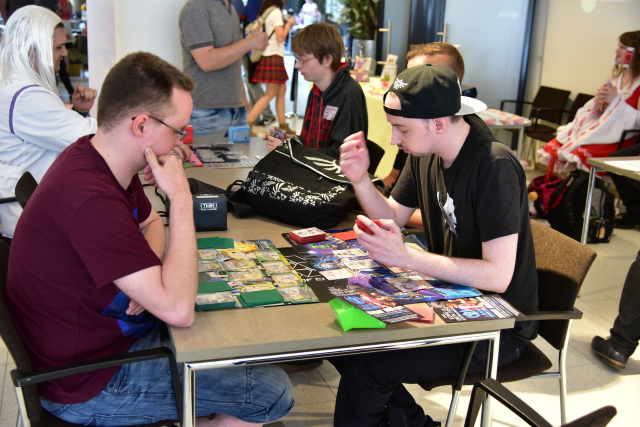 Cardgames at the Exp Plaza